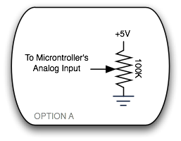 Potentiometer to Microcontroller Option A
