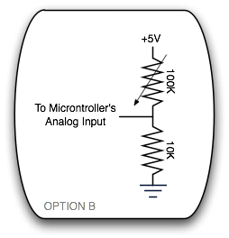 Potentiometer to Microcontroller Option B
