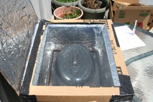 Inside my Solar Cooker